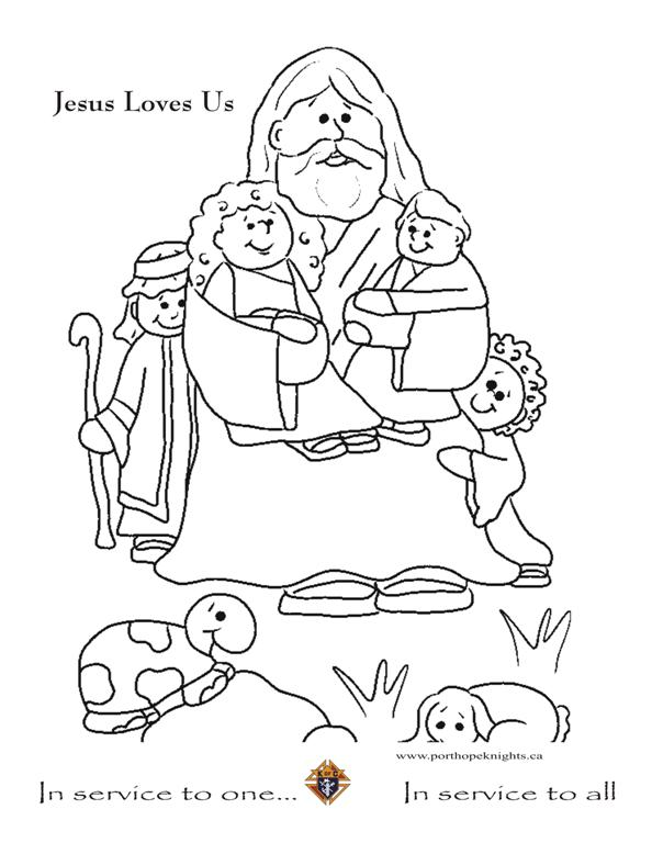 jesus loves you coloring pages - photo#33