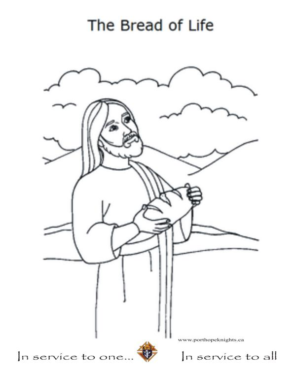 bread of life coloring pages - photo#20