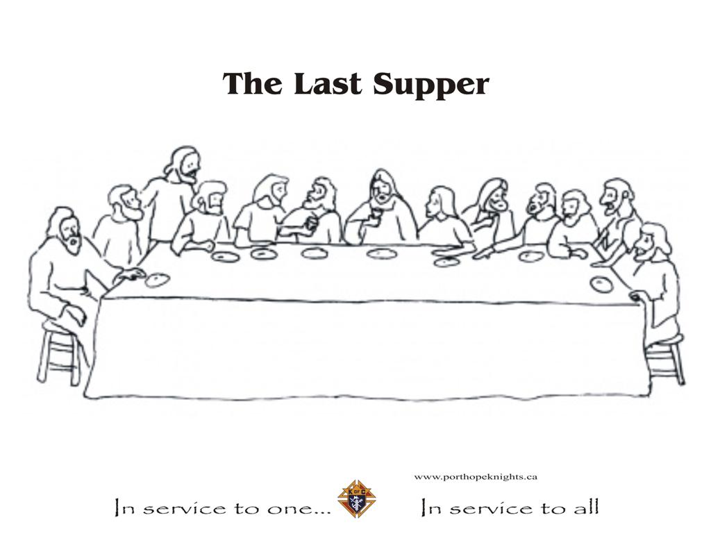 How To Draw The Last Supper Pictures to pin on Pinterest Da Vinci Last Supper Coloring Pages